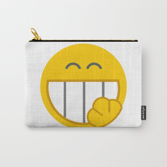 yellow smile Carry-All Pouch