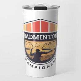 Badminton Badge Travel Mug