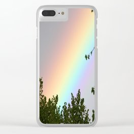 Pastel Natural Rainbow Clear iPhone Case