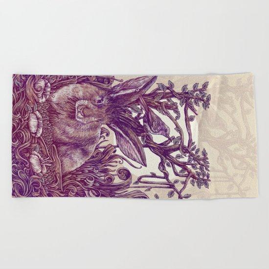 Rabbit Horns Beach Towel