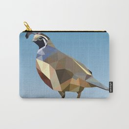 Geometric Quail Carry-All Pouch
