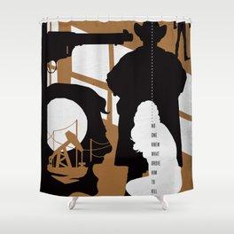 Hardboiled :: The Killer Inside Me :: Jim Thompson Shower Curtain