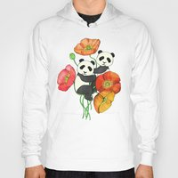 bedding Hoodies featuring Poppies & Pandas by micklyn