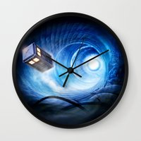 doctor who Wall Clocks featuring Doctor Who by Joe Roberts