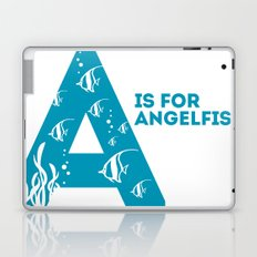 A is for Angelfish - Animal Alphabet Series Laptop & iPad Skin