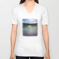 chile V-neck T-shirts featuring Al sur de Chile by Viviana Gonzalez
