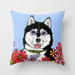 Summit the Husky Throw Pillow