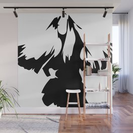 ''Nowhere Collection'' - Woman With Long Hair Illustration Print Wall Mural