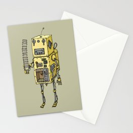 Coffee Robot Stationery Cards