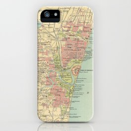 Vintage Map of Madras India (1909) iPhone Case