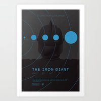 iron giant Art Prints featuring The Iron Giant by Dee Choi