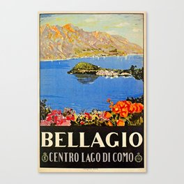 Italy Bellagio Lake Como Canvas Print
