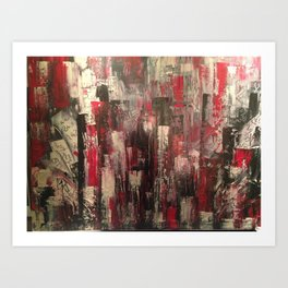 Graffitis Art Print
