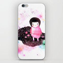 Girl in Cloud iPhone Skin