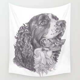 Gotta draw the English Springer Doggie! Wall Tapestry