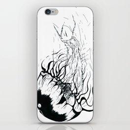 Méduse Noire iPhone Skin