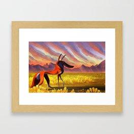 Ethiopian Wolf Framed Art Print