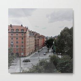 building in stockholm Metal Print
