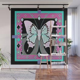 Lilac Western Style Butterfly Morph  Design   Wall Mural