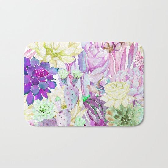 Lilac garden Bath Mat