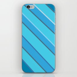 Blue diagonals iPhone Skin