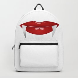 Vampire Lips with Fangs  Backpack