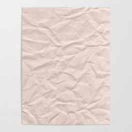 crumpled paper. Kraft paper Poster
