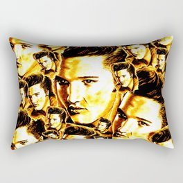 Elvis in Orange-Gold Rectangular Pillow