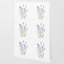 purple lavender watercolor painting Wallpaper