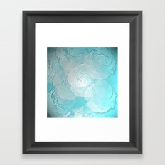 Embossed roses Framed Art Print