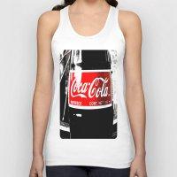 coca cola Tank Tops featuring Coca-Cola Nostalgia by Vorona Photography