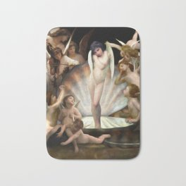 Bouguereau's Angels Surround Cupid Bath Mat