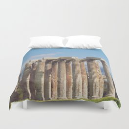 Remains of Zeus Duvet Cover
