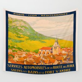 Vintage poster - Route du Jura, France Wall Tapestry
