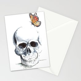 butter skull Stationery Cards