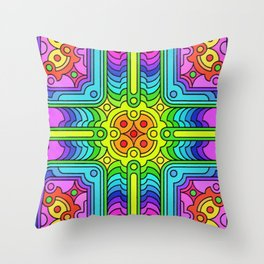 Deconstructed Spinners Throw Pillow