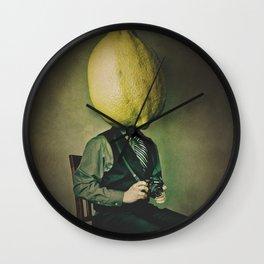 Lemonhead Photographer Portrait Wall Clock