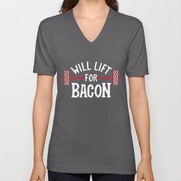Will Lift For Bacon Unisex V-Neck