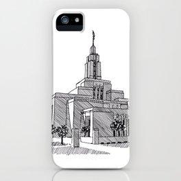 Draper Utah LDS Temple iPhone Case