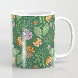 Spring Flowers and Butterflies Coffee Mug