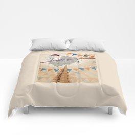 Elephant on tightrope Comforters