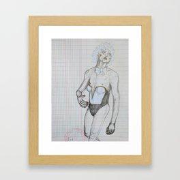 Pretty Boy Walking Framed Art Print