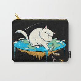 Flat Earth Cat Carry-All Pouch