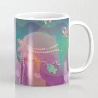 mermaid Mugs featuring Mermaid by Graphic Tabby