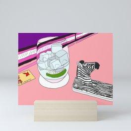 Zebra Phone in Tokyo Roppongi Mini Art Print