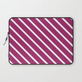 Purple Plum Diagonal Stripes Laptop Sleeve