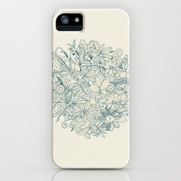Denim flower circle iPhone Case