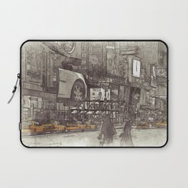 NYC Yellow Cabs Times Square - SKETCH Laptop Sleeve