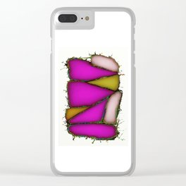 Crushed pink Clear iPhone Case