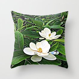 White Flowers of the Purest Essence Throw Pillow